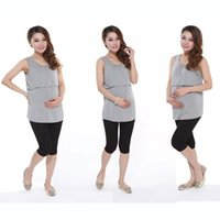 Wholesale Tank Tops For Pregnant Women - New Summer Maternity breastfeeding Tops nursing clothes pregnancy clothes for pregnant women Vest nursing tank tops
