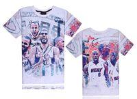 Wholesale Korean T Shirt Print Designs - Spring and summer new creative 3D design thinking in the brilliant color printing Korean short-sleeved T-shirt Harajuku tide AB 017