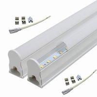 Wholesale High Lumen T5 Led Tube - Free Shipping, Integrated Led Tube T5 Led Light 2ft 600mm 10W 110V 220V Led Tube Lamp SMD2835 High Lumen Cold white 6500K Nature White 4500K