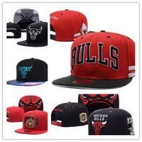 Wholesale Bull Hats - Top Sale wholesale New Brand Hip Hop Bulls Gorras Snapback Fashion Adjustable Basketball Baseball Cap Hat Bones Chicago Free Shipping