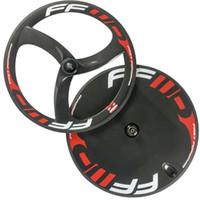 Wholesale Fix Gear Wheels - Full carbon wheelset front 3 spoke wheels rear disc wheel clincher carbon wheels fixed wheel road wheel