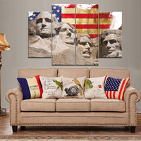 Wholesale Presidents Pictures - President of the United States Frameless Paintings 4pcs (No Frame) Printd on Canvas Arts modern Home Wall Art HD Print Painting Picture