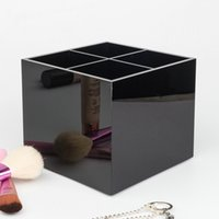 Wholesale cosmetic accessories - HOT Famous brand classic high-grade acrylic toiletry 4 grid storage box   cosmetic accessories storage with gift packing(Anita Liao)