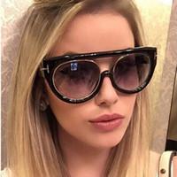 okculus kedi gözü retro toptan satış-Yeni Flat Top Ayna Güneş Kadınlar Moda Kedi Göz Güneş Gözlükleri Moda Marka Tasarımcısı Erkekler Retro ulculos de sol feminino UV400 Y202