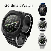 Wholesale remote monitoring system - G6 Bluetooth Smart Watch For Android IOS System Wireless Smart Watch Support Pedometer Sleep Monitor with Retail Package NEW OTH354