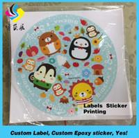 Wholesale Wholesale Custom Die Cut Stickers - OEM Dome Cartoon Round Custom Non-toxic Sticker Adhesive Sticker Printing Waterproof Die Cut Sticker Label Printing