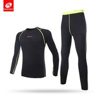 Wholesale Thermal Underwear Bike - Nuckily mens winter long thermal underwear suit outdoor sports and road bike riding fleece wear set ME011 & MF011#