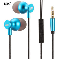 Wholesale Earphones Heavy Bass - In-ear Headphone Universial Metal Earphone Heavy Bass Noise Cancelling Audio In-ear 1.2M 3.5MM Hands Free with Mic With Retail Box