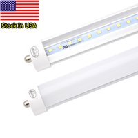Wholesale Ul Pack - Pack of 25 LED 8 Foot Tube Light Bulb, 6000K (Cold White), FA8 Single Pin, 85V-265V AC, 45W - 4800 Lumens (90W Fluorescent Equivalent)