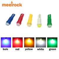 Wholesale Green High Wedges - Meetrock 10pcs ceramic T5 led dashboard light gauge instrument car lamp led t5 side auto wedge bulb SMD COB DC 12V