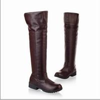 Wholesale Attack Titan Shoes - Wholesale-Attack on Titan Cosplay High Boots Shingeki no Kyojin Eren Jaeger Ackerman Shoes EUR size 34-47 brown type Free Shipping