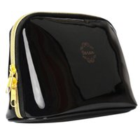 Wholesale Party Dress Patterns For Ladies - Wholesale- New Fashion Pattern Luxury Cosmetic Bag Pouch Women Girl PU Leather Makeup Bag Female Evening Party Dressing Bag for Ladies