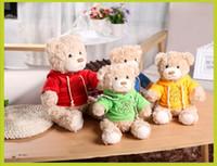 sevimli teddies ayıları toptan satış-20 cm Sevimli Karikatür Ayı Peluş Oyuncaklar Çocuk Çocuk Küçük Dolması Teddy Bear Oyuncak Yaratıcı Hediye JS 002