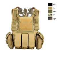 Wholesale Combat Armor - Outdoor Sports Outdoor Camouflage Body Armor Combat Assault Waistcoat Tactical Molle Vest Plate Carrier Vest NO06-005