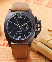 Wholesale Bronze Hand - 2017 PAM Brand Luxury Watch Men Fashion Wristwatches Automatic Mechanical Hand-Winding Watch Mens Natural Leather Watches Sports watch 45MM