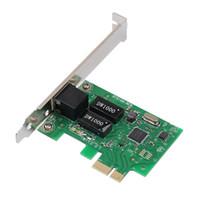 Wholesale Pci Express Lan Card - Wholesale- 2017 H 1000Mbps Gigabit Ethernet PCI Express PCI-E Network Card 10 100 1000M RJ-45 RJ45 LAN Adapter Converter Controller