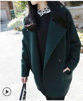 Wholesale Elegant Fleece Coats - New Arrival Hot Sale Fashion Noble Female Winter Korean High Quality Woolen Imported Loose Winter Cocoon Type Elegant College Gown Coat