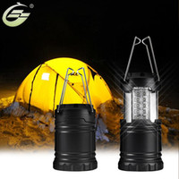 Wholesale Outdoor Waterproof Lanterns - Wholesale- Fashion Black Gray Portable LED Tent Light Stretch Outdoor Camping Lantern Hiking Lamp 30 Mini Bulbs Waterproof Free Shipping