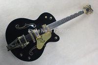 Wholesale Guitar Korean - OEM Free shipping High Quality black Gret sch Falcon 6120 Semi Hollow Body Korean Tuners Jazz Electric Guitar With bigb Tremolo 11
