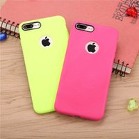 Wholesale Thin Leather Bumper - TPU cases for iphone 7 6 6s plus 5 5s se case striae ultra thin frosted soft-shell Premium Bumper Slim Fit fit for iphone cases opp bag