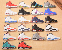 Wholesale Cartoon Basketball Shoes - Basketball Shoes Key Chain Rings Charm Sneakers Keyrings Keychains Hanging Accessories Novelty Fashion Sneakers Key Chain C90L
