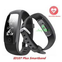 Wholesale Kids Tracking Watches - Orginal Smart ID107Plus HR Heart Rate Bracelet Monitor ID107 Plus Wristband Health Fitness Tracking For Android iOS Smart Watch