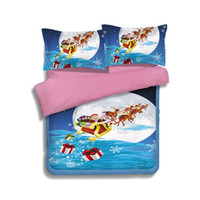 Weihnachten Cartoon Kinder Bettwäsche Set Polyester Twin Size Duvet Cover Set Kinder Voll Bettwäsche