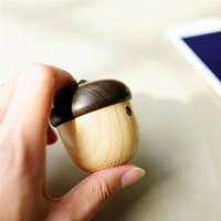 Wholesale unique usb - Newest water transferring pringting Bluetooth Speaker with mini acorn shape hang everwhere with unique mini nut appereance wonderful sounds