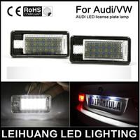 Wholesale Led Light For Vw Passat - 2 Pcs Lot Audi VW LED License Plate Light No Error Lamp 24LED SMD3528 For A4 A5 Q5 TT TT-RS S4 PASSAT VW
