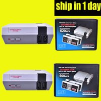Wholesale Video Player Pc - 2017 TV Handheld Game Console Mini Video Game Player Console For NES Windows PC Mac with 500 620 Built-in Games With Box OTH732