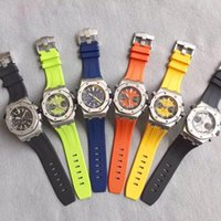 Wholesale Colorful Men Watches - 2017 Hot seller Luxury watches High Quality Quartz Watch For Men Top Luxury Brand Colorful WristWatch Rubber Strap Sport Chronograph Watch