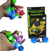 Wholesale Black Red Yoyo - 2017 newest hot sell glow in dark finger yoyo ball, thumb chucks fidget led yoyo ball