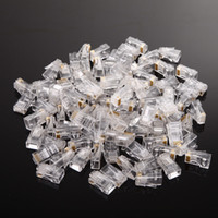 Wholesale rj45 modular - RJ45 Plugs 8P8C UTP CAT5 Cat5e Socket Network Ethernet Crystal Modular Connector Cable Head Adapters for LAN Wire
