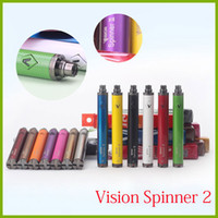 Wholesale Ego Pens - Vision Spinner II 13 colors 1650 mah Electronic Cigarettes Ego Twist 3.3V-4.8V Vision Spinner 2 Ecigs For E cigarette Vape Pen