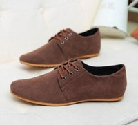 Wholesale Mens Canvas Loafers - Hot Sale Spring Autumn Fashion Men Shoes Mens Flats Casual Suede Shoes Comfortable Breathable Flats Driving Loafers