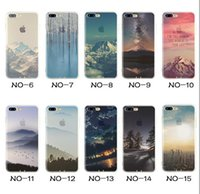 Wholesale Iphone Case Plating - For Apple iphone 8 8 plus 7 plus 6S SE silicone coloured drawing case landscape Plating TPU Clear cell phone cases