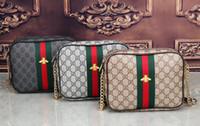 Wholesale Canvas Leather Shoulder Bag - Europe Luxury brand women bag Famous designers handbags backpack women's Shoulder bag chain backpacks imitation brands Shoulder Bags