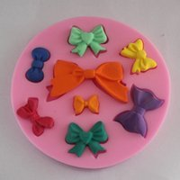 Wholesale Tie Chocolate Mold - Bow Tie Shape Silicone Mold Multi Function DIY Cake Mold Sugar Craft Fondant Candy Chocolate Mold Baking Tool 3 5dy J R