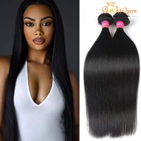Wholesale Queen Hair Products Brazilian - 3Bundles Brazilian Virgin Hair Straight Gaga Queen Hair Products 7A 100%Unprocessed Human Weave Brazilian Straight Hair Extensions Soft