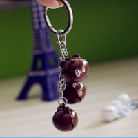 Wholesale new lucky keychain resale online - New Cute Rabbit Bear Lovely Keychain Key Ring For Kids Men Women Cute Lucky Bell Key Chains Jewelry Free FBA Shipping D331S