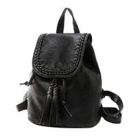 Wholesale Ladies Black Designer Backpacks - New Fashion Women Backpacks Women's PU Leather Backpacks Small Girl School Bag High Quality Ladies Designer mochilas