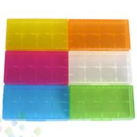 ящики для хранения аккумуляторных ящиков оптовых-2 * 18650 аккумулятор Case Box держатель безопасности контейнер для хранения пластиковый портативный Case fit 2 * 18650 или 4 * 18350 CR123A 16340 батареи DHL бесплатно