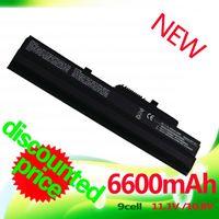 Wholesale Batteries Hp Mini - Wholesale-9 cell 6600mAh Black Laptop Battery for MSi U100 U90 U200 U210 U230 BTY-S11 BTY-S12 for LG X110 for MEDION Akoya Mini E1210