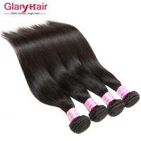 цена пряжи человеческого волоса оптовых-Весна новый плетение волос Weave стили 8A оптовая цена перуанский малайзийский прямые бразильские волосы Weave пучки Remy человеческих волос расширения