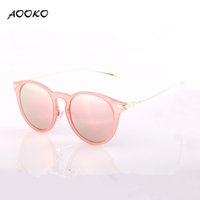 Wholesale Round Cateye Sunglasses - AOOKO AK7876 Fashion Cat Eye Sunglasses Women Brand Designer Sun Glasses For Ladies uv400 Vintage Oculos cateye Mirror Colorful-Lens Female