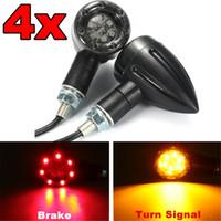 Wholesale Motorcycle Rear Brakes - 4pcs Universal Motorcycle Flasher Turn Signal Light LED Indicators light Brake Rear Running Lamp
