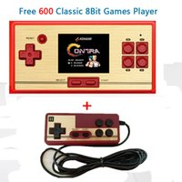 Wholesale Video Puzzles - RS-20 handheld game players 600 different games classic retro children's puzzle video game console 2.6 inch screen TV games O2 3 colors