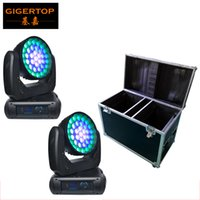 2IN1 Flightcase Packing 37x12W Led Wash Moving Head Zoom Light LED Contrôle individuel Super Wash Effect Fan Cooling Disco / Club