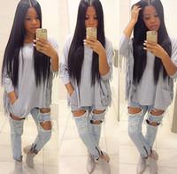 chemisier à vendre achat en gros de-9A Grade malaisien péruvienne cheveux brésiliens 4 bundles vison cheveux raides tisse pas cher cheveux tisse extensions vente 100G / Bundles ALOT