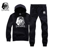 Wholesale Tyga Sweatshirts - 2017 Men Brand Name Clothes Autumn Winter Man Last Kings Hiphop Sweatshirt Street Fashion Tyga Last Kings Hoodies sweats jumper